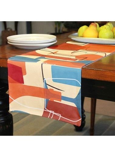 Artikel Renkli Kadehler Runner Masa Örtüsü 43,5x141,5cm Renkli